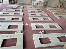 White Wood Drift Wood Countertops Vanity Top