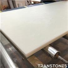 Translucent White Honed Onyx Tv Wall Panel