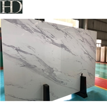 Calacatta White 3d Painting Artificial Marble Slab
