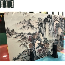 Cheap 3d Painting Surface Artificial Marble Slabs