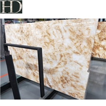 Cheap Chinese Yellow Ice Jade Luxury Onyx Slabs