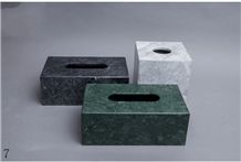 Marble Paper Towel Box Household Decoration