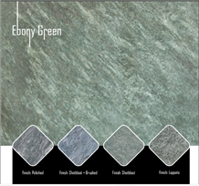 Ebony Green Slate Tiles, India Green Slate