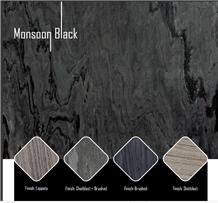 Monsoon Black Quartzite Slabs & Tiles