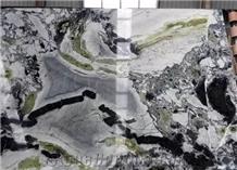 Ice Beauty Marble Black Green Exotic Jumbo