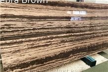 Irish Coffee Brown Marble Strip Straight Slabs