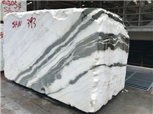 Panda White Marble Rough Block, China Exotic Black