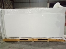 Stellar White Quartz Polished Surface Pure Bright