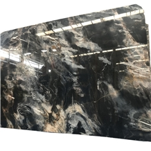China Phantom Black Marble Slabs for Wall Covering