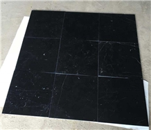 Cut to Size Nero Marquina Black Marble Tile 24x24