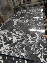 Italy Calacatta Black Marble Stone Slab, Calacutta