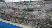 Polished Iride Nero Marble Slabs