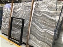 Polished Mercury Black Marble Slabs