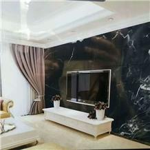 Polished Port Black Marble for Background