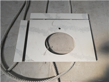Vietnam Quartz Stone Bath Countertop for Hotel Projects