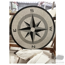 Compass Granite Medallion for Outdoor Using