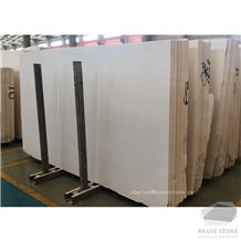 White Limestone Slabs and Tiles for Wall Cladding