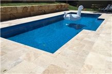 Classic Light Travertine Swimming Pool Pavers