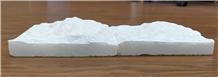 Crystal White Marble Square Mushroom Wall Cladding