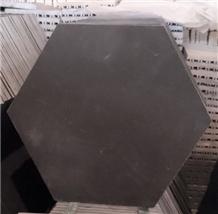 Honed Hexagon Bluestone Tile