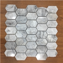 Multicolor Marble Polished Picket Pattern Mosaic