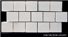 White Crystal Marble Chopping Pool Coping Tiles