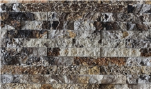 Black and White Tra Onyx Split Face Stone Wall Panel