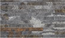 Gray Travertine Split Face Stone Veneer