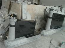 Natural Granite Stone Headstone Monuments