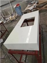 Pure White Nanocrystalline Vanity Top