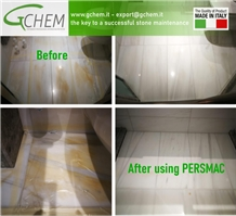 Persmac Removes Yellowing and Discolouration from Marble