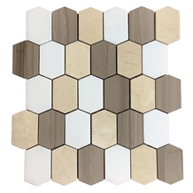 Long Hexagon Mosaic, Marble Mosaic/Tile
