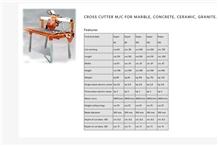Cross Cutter M/C for Marble, Granite, Ceramic