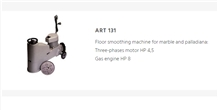 Art 131 Floor Smoothing Machine for Marble and Palladiana