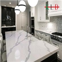 Artificial Calacatta White Stone Countertop Kitchen,Table Top