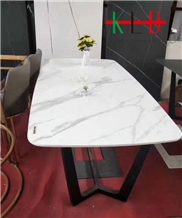 Calacatta White Sintered Stone Table Tops Desk