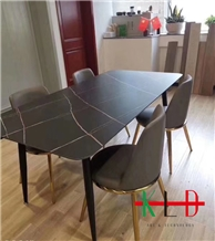 Lauren Black Sintered Stone Table Tops