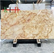 Turkey Polished Sky Gold Marble Slabs for Sales
