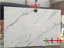 White Artificial Stone Bianco Marble Slabs