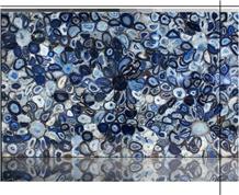 Blue Agate Semiprecious Gemstone Panel Luxury Slab
