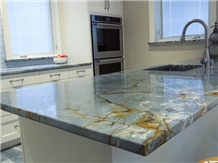 Blue Roma Kitchen Counter Top Prefab Table