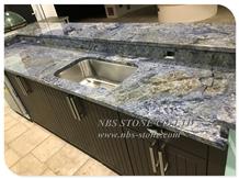 Brazil Blue Azul Bahia Granite Countertop