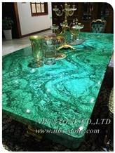 Green Malachite Agate Slabs Semipreciious Stone