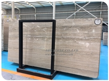 Silver Travertine Slab Ocean Blue Wall Tiles