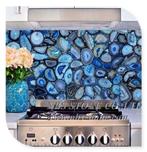 Translucent Blue Agate Backlit Wall Panel Slab