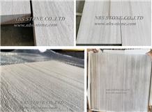 White Wooden Marble Tile Honed Slab Flooring Wall
