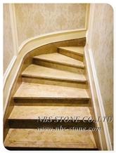 Yellow Marble Golden Flooring Stairs
