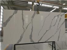 Bianco Calacatta Artificial Quartz for Countertop