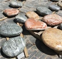Natural Huge Pebbles Big Size River Stone Step