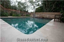 Moleanos Beige Limestone Pool Deck Pavers